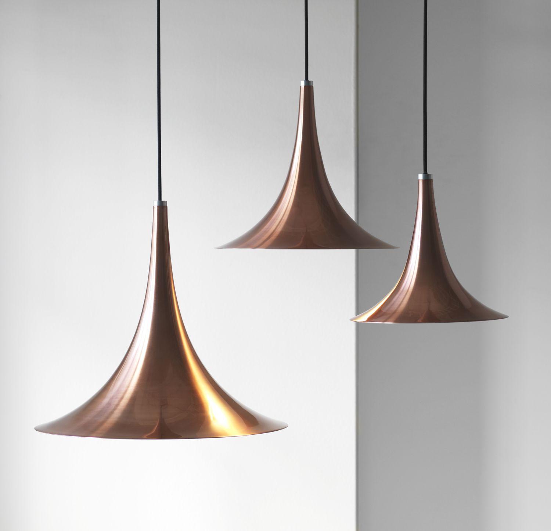 Darø Trion Rose Copper Pendant Light