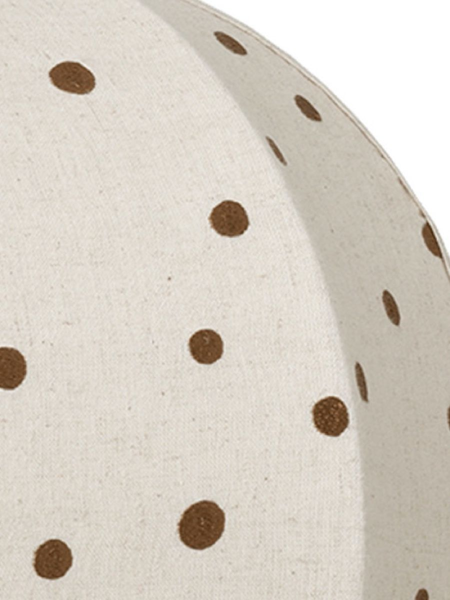 Dots Embroidered Textile Lampshade detail photo 100% Natural cotton