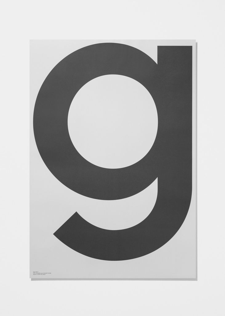 playtype grey g poster