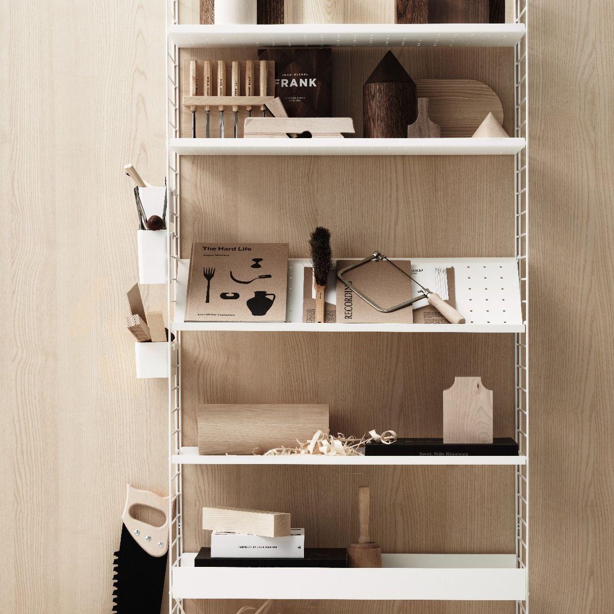 String shoe shelf 78 x 30cm white