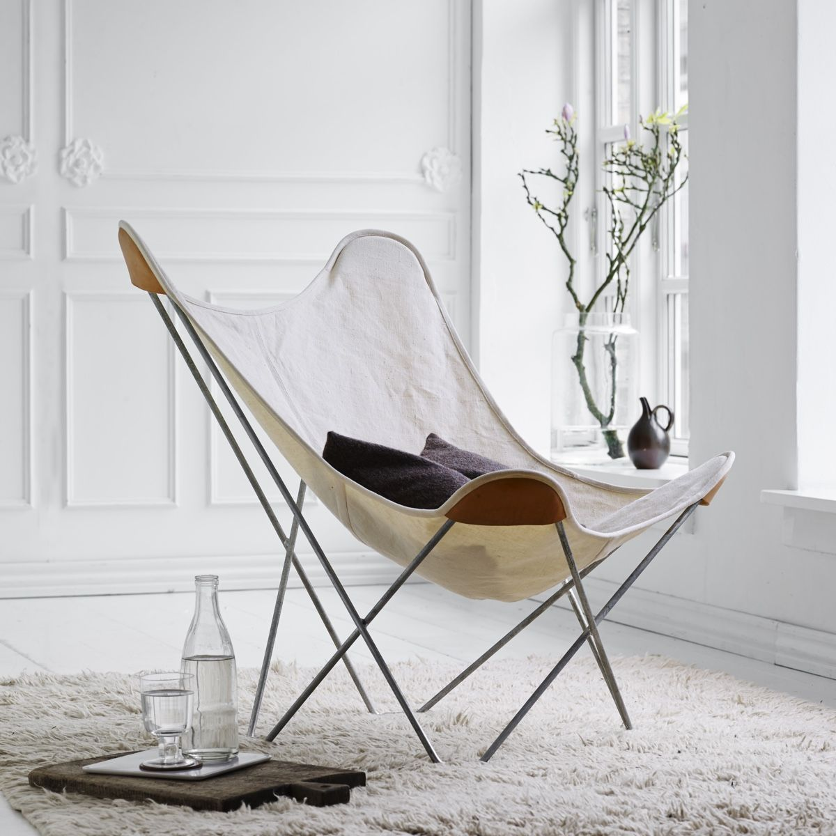 Cuero Design Canvas Butterfly Chair