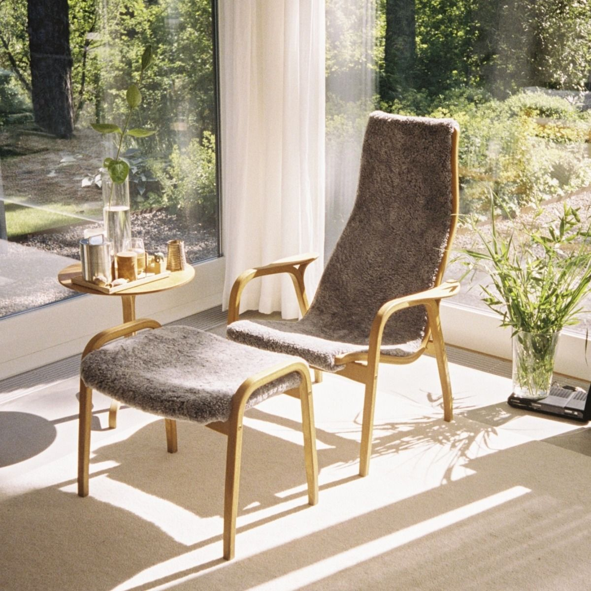 Lamino Easy Chair by window with Lamino table