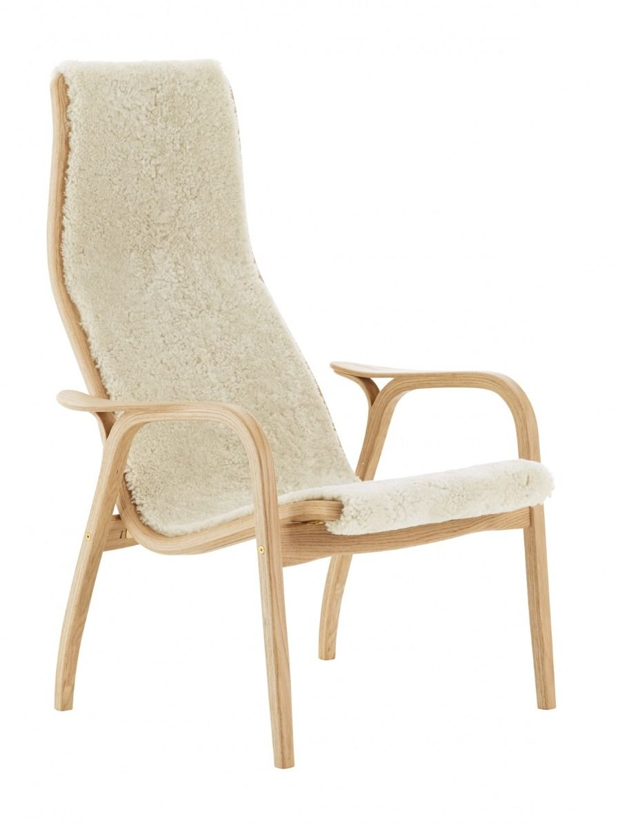 Lamino Easy Chair in oak and off white