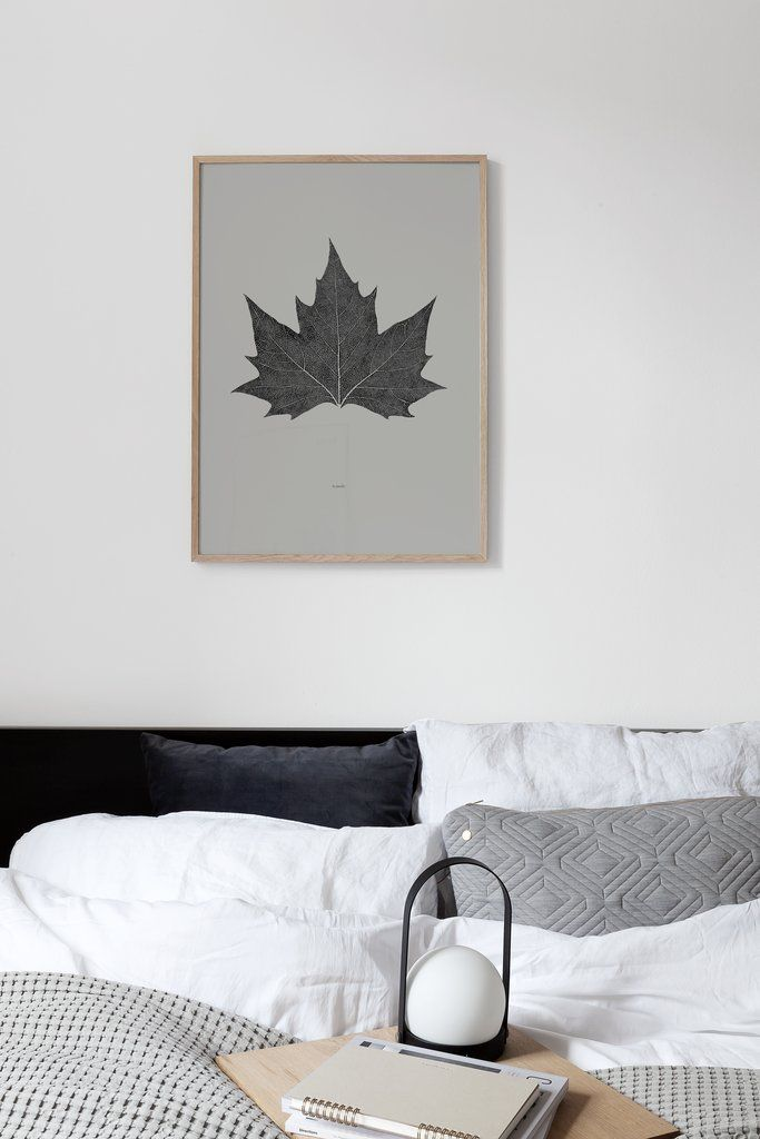 Coco Lapine La Feuille Poster above bed