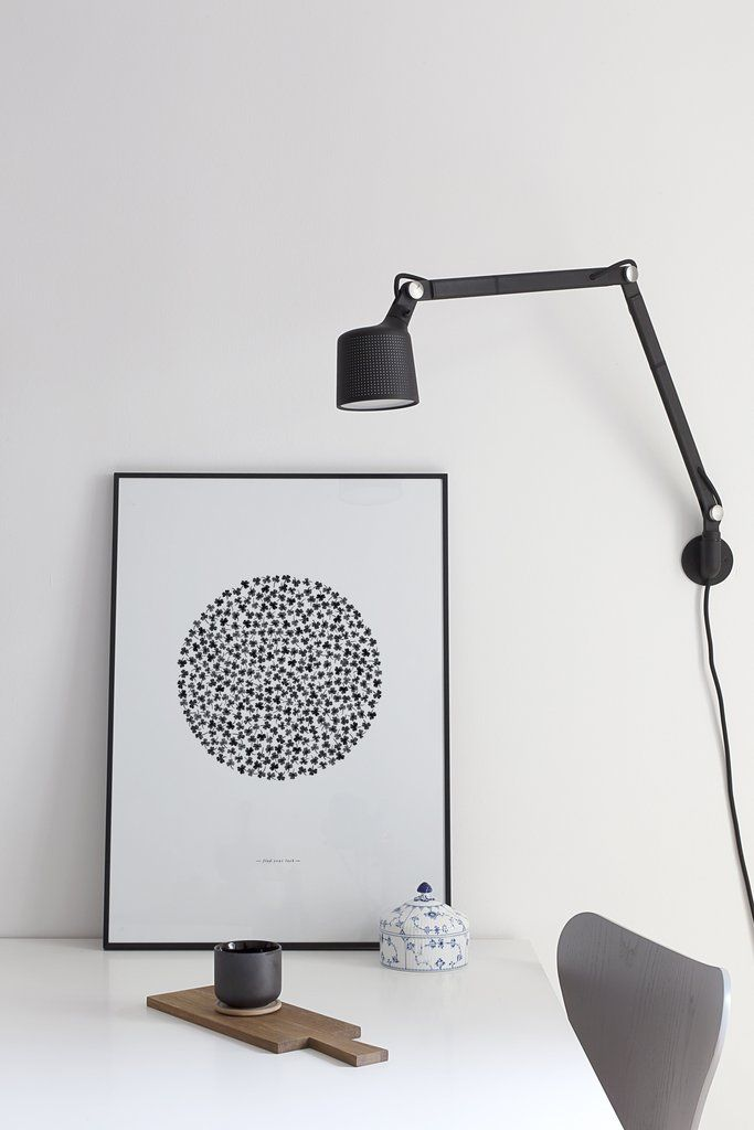 Coco Lapine Find Your Luck Poster with Vipp wall light