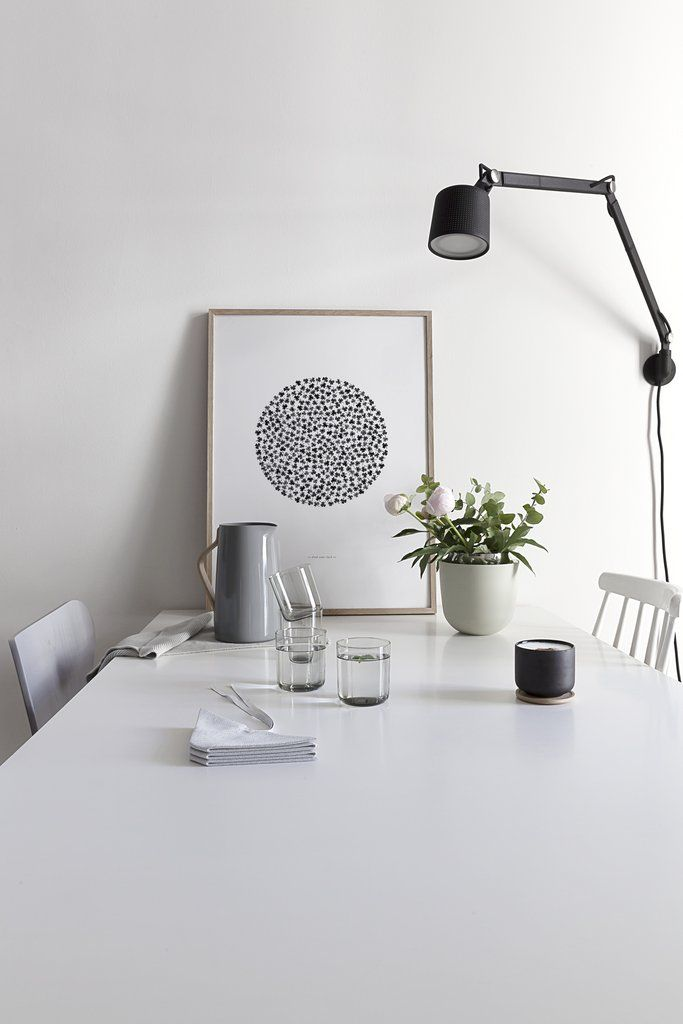 Coco Lapine Find Your Luck Poster on the end of a table leaning against the wall