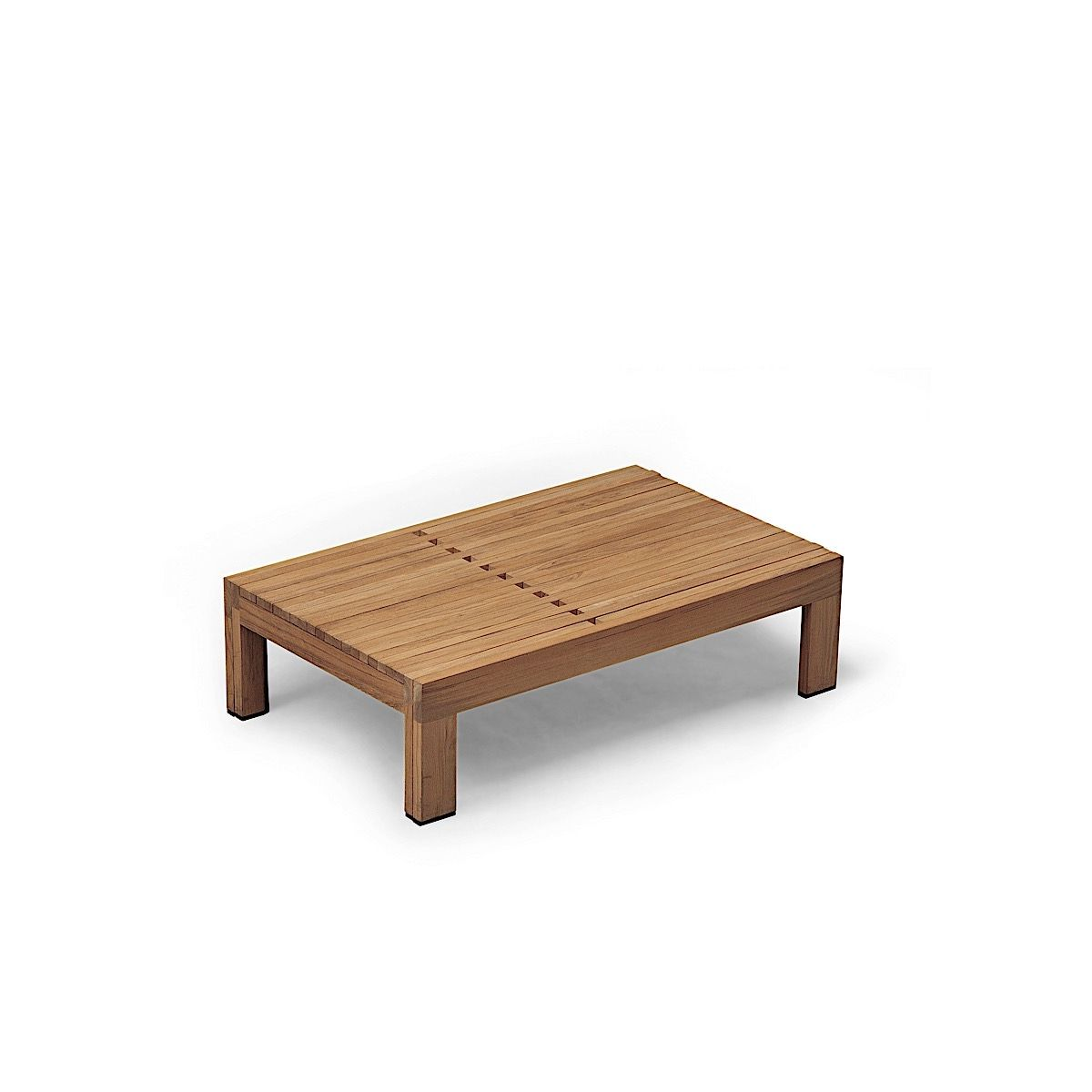 Riviera Sunbed folded into coffee table