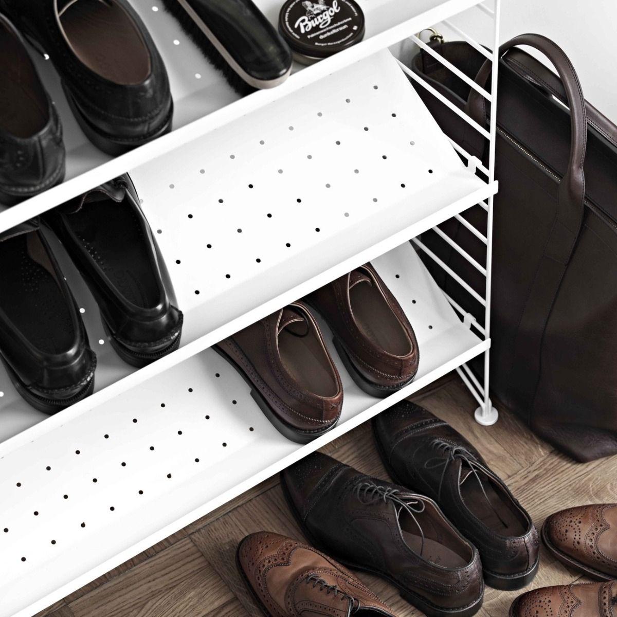 String shoe shelves 78 x 30cm white