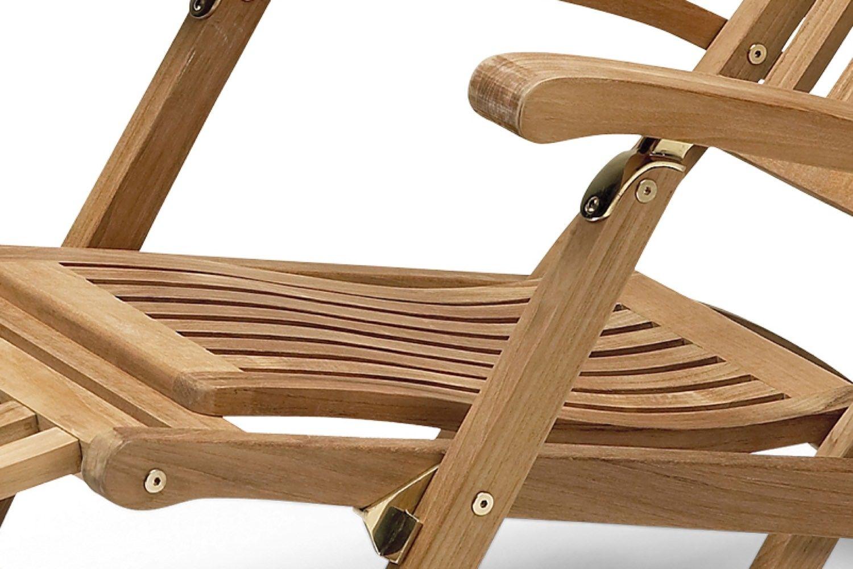 Skagerak Steamer Deck Chair details in brass