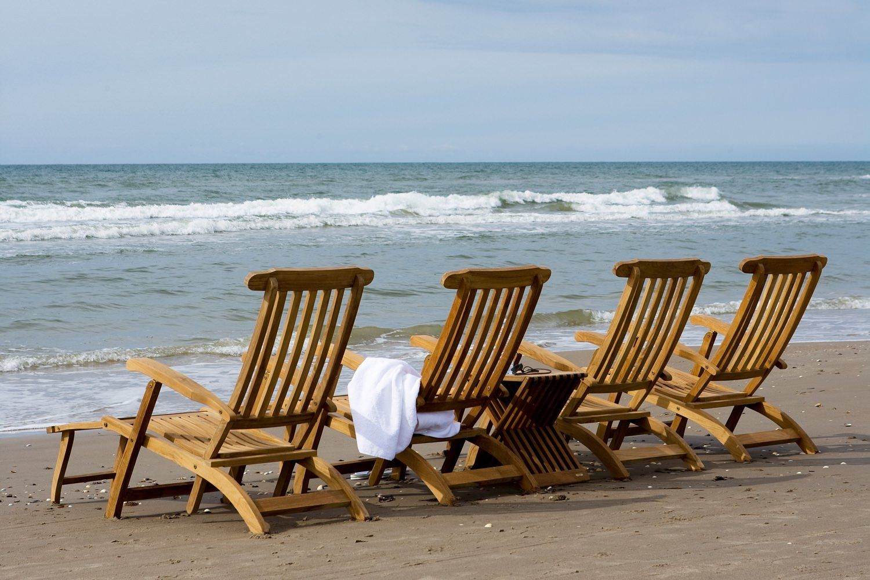 Skagerak Steamer Deck Chairs on the beach