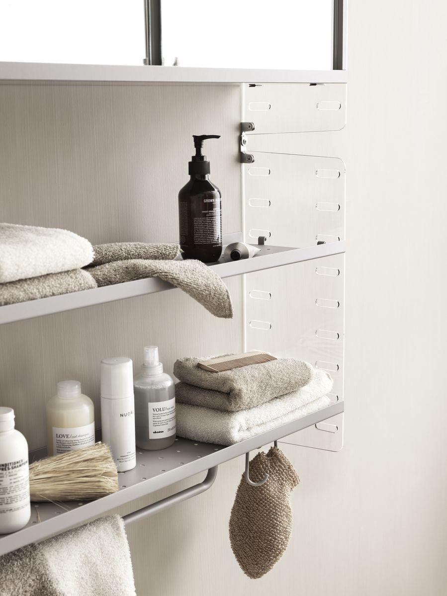 String + Rod grey detail on bathroom system