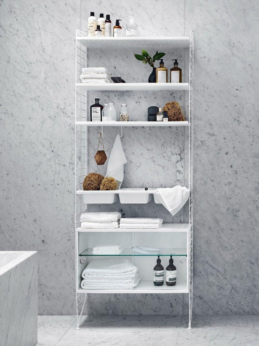 String Display Cabinet in Bathroom System