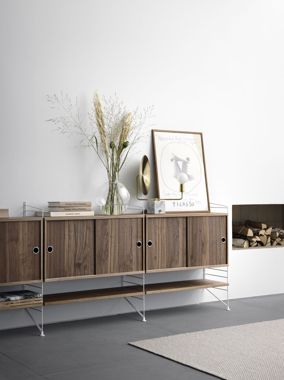 String Floor Panel 85 x 30cm used on walnut sideboard