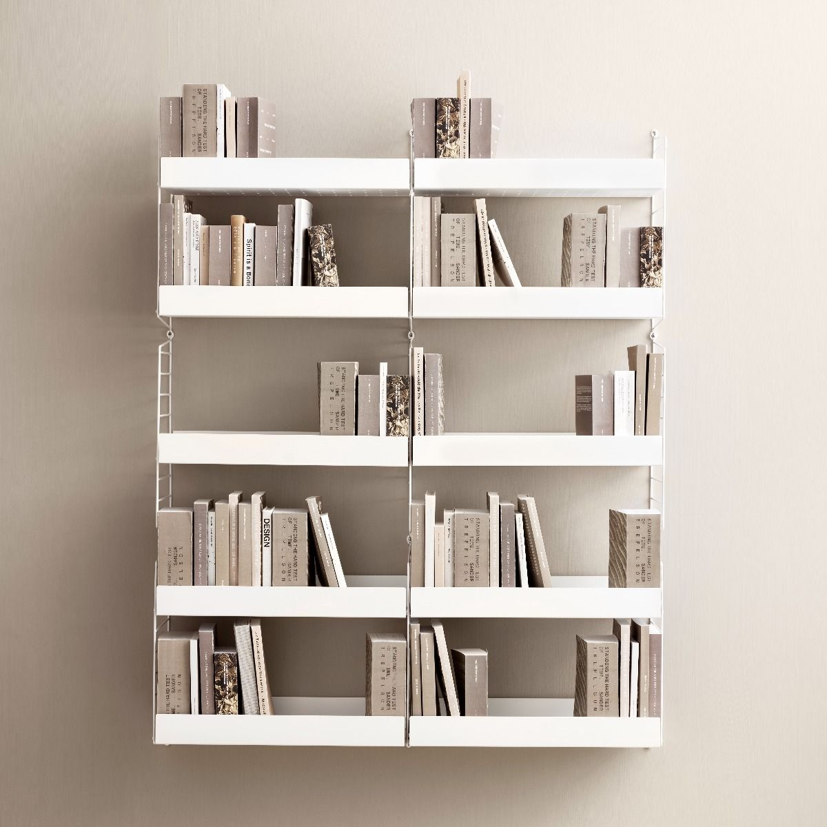 String metal shelves 78 x 30 white high edge
