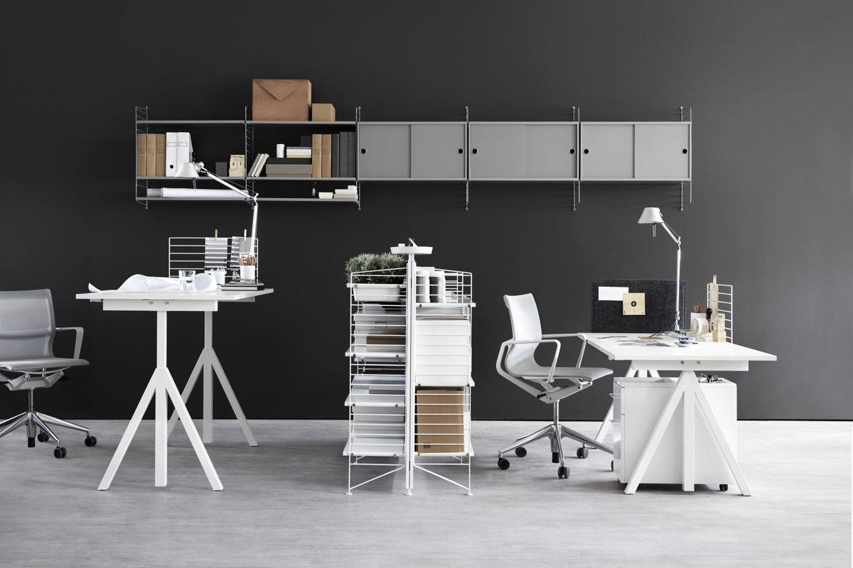 String Floor Panel 115 x 30cm office set up