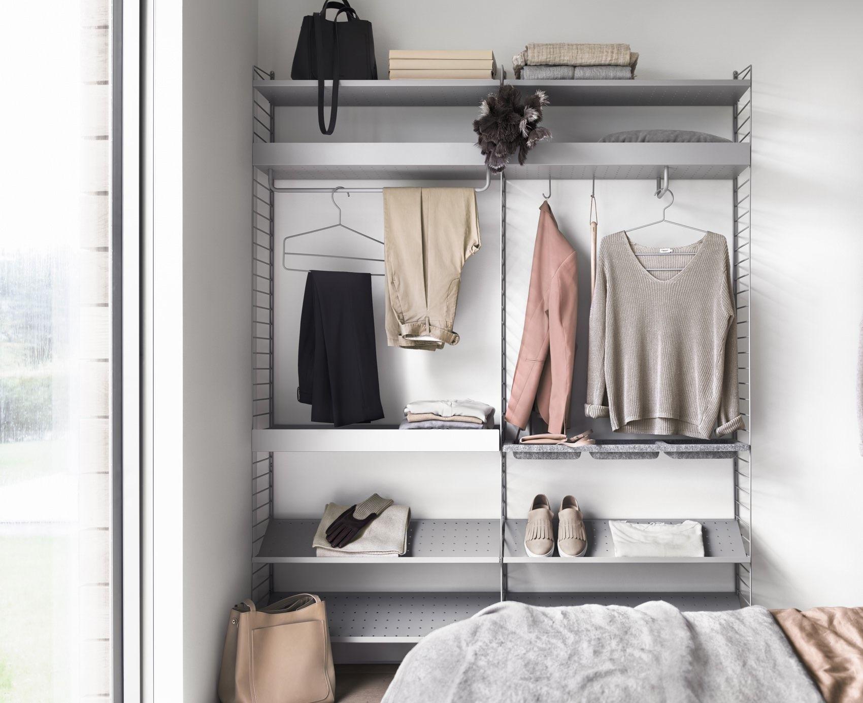 String Shelving System Closet
