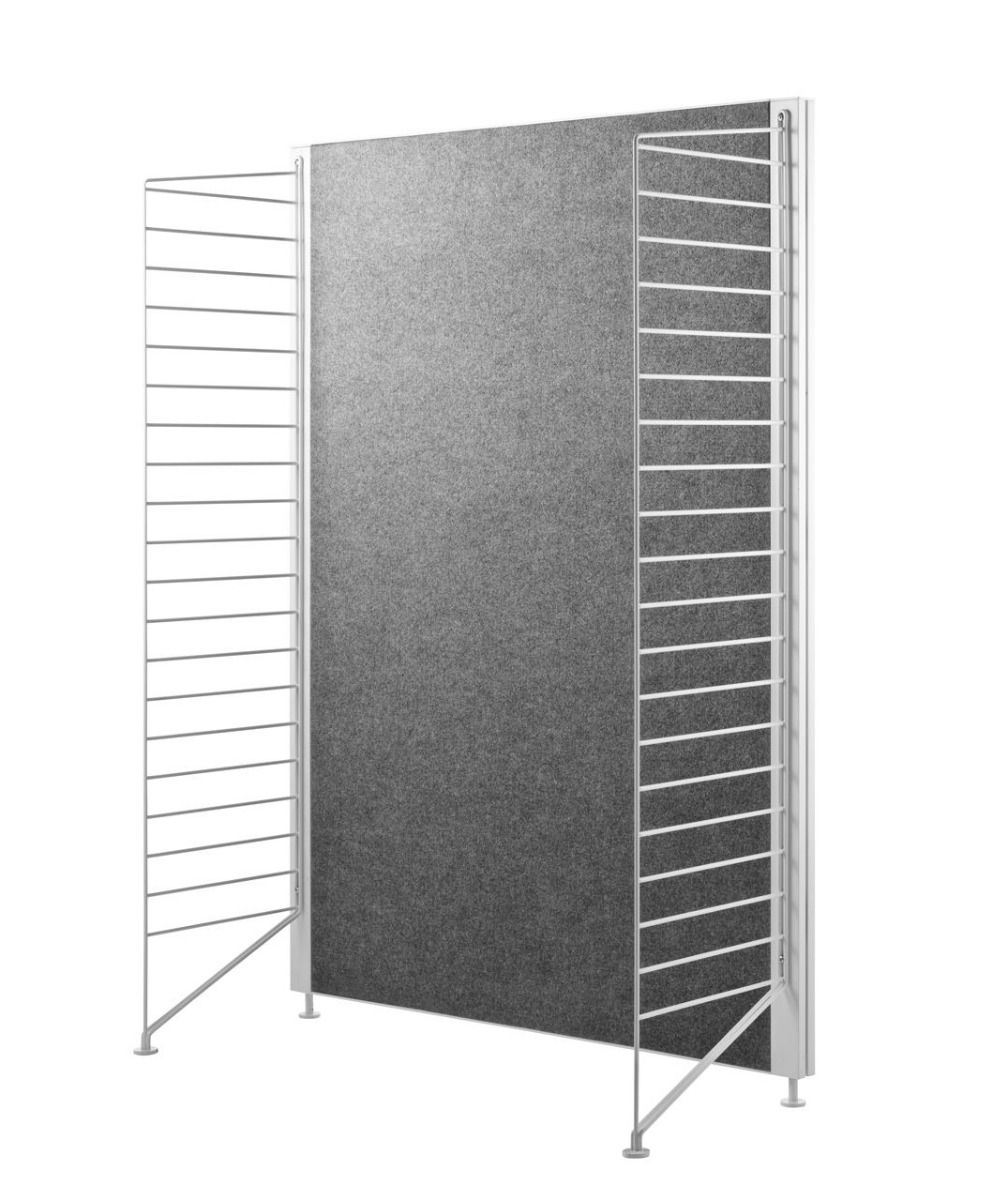 String works fabric screen with f115cm end panels