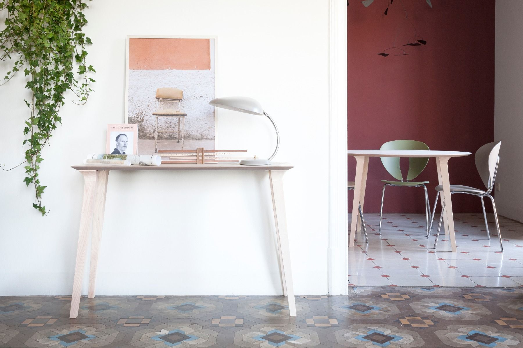 Stua Lau console table natural ash in apartment