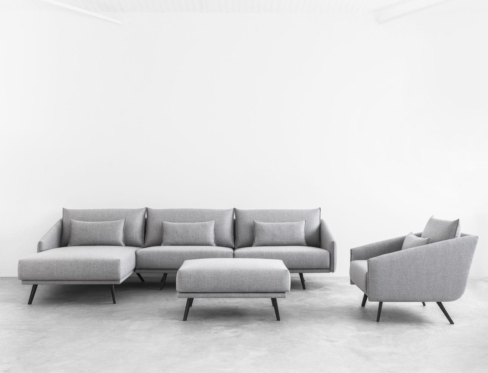 STUA Costura Sofa Chaise Longue with a Costura arm chair