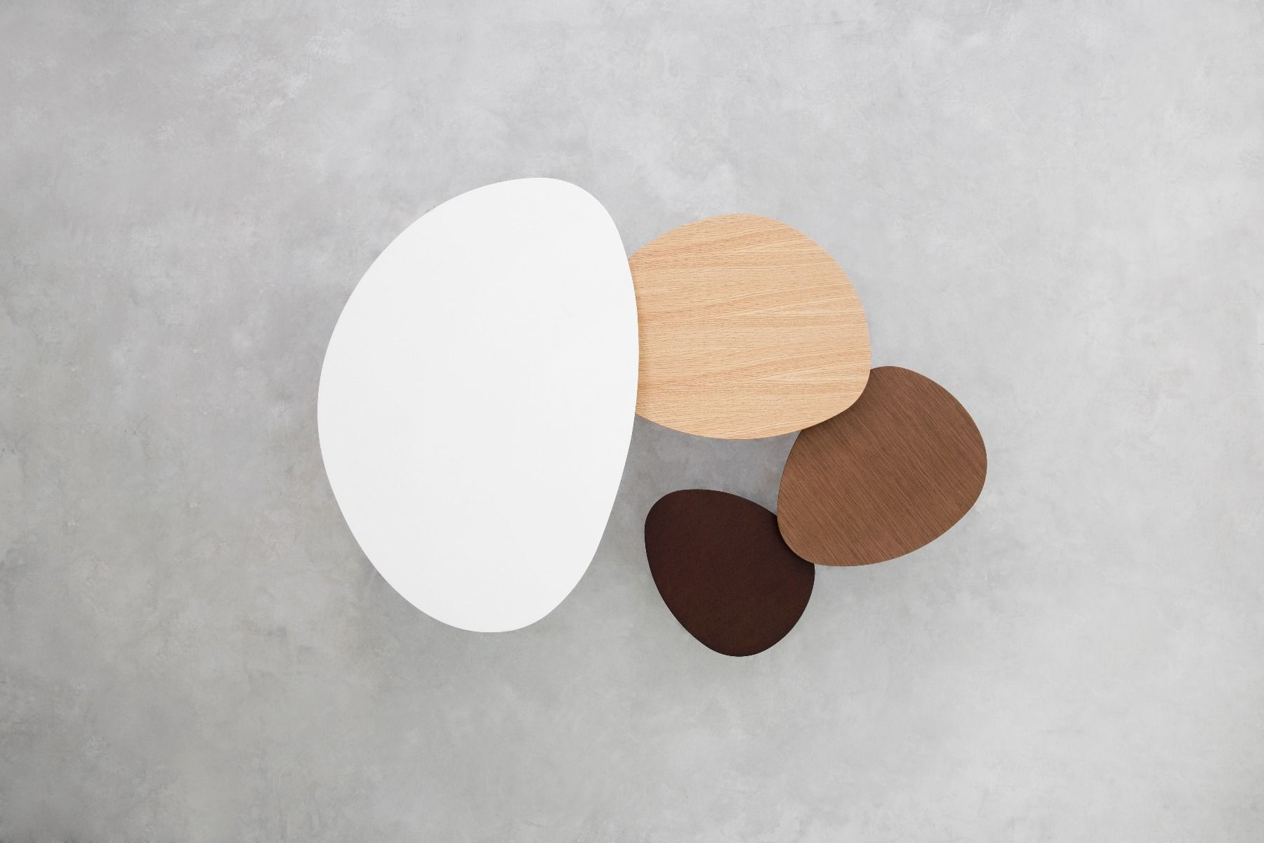 STUA Eclipse Coffee tables showing each size and colour
