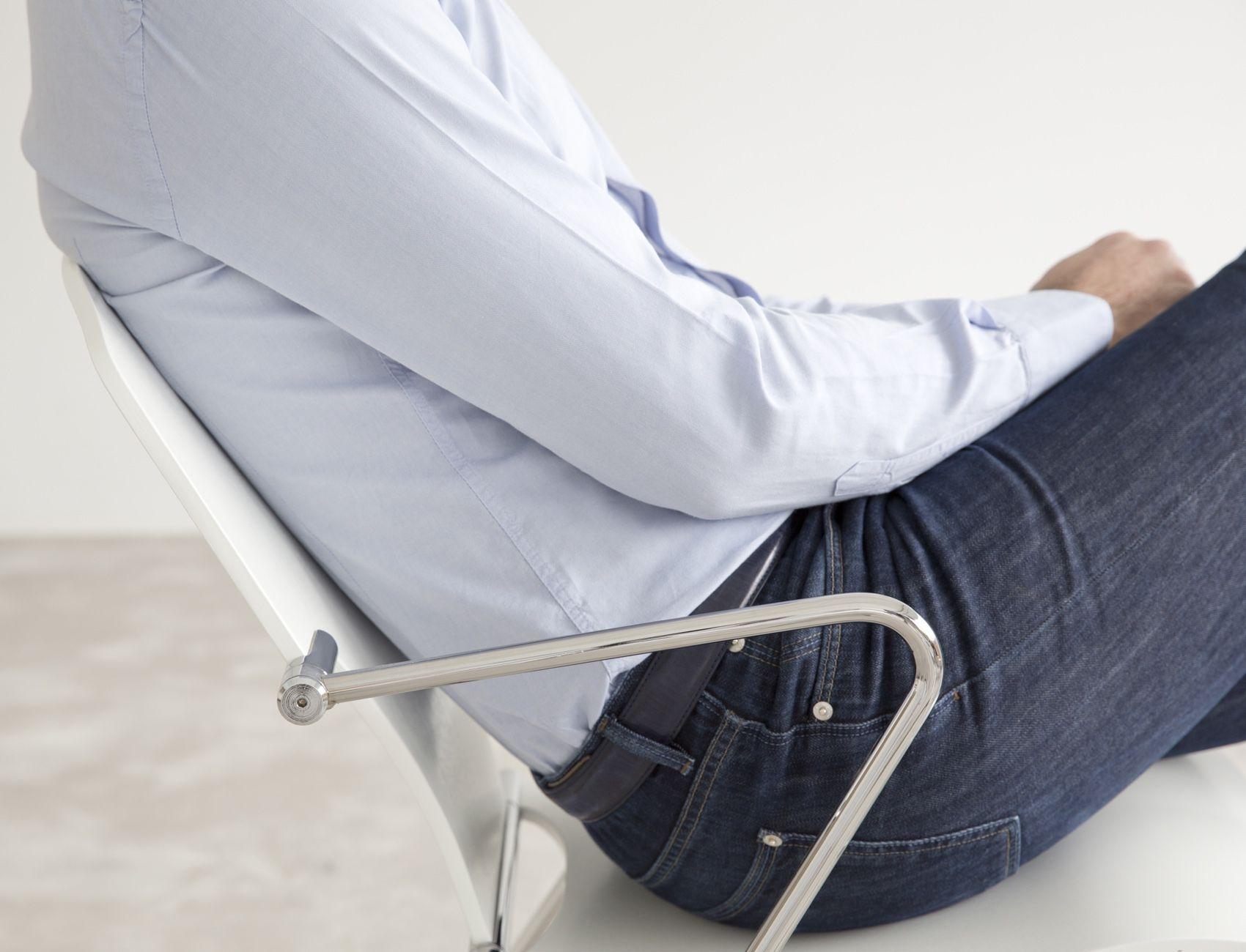 STUA Egoa Chair with flexible chrome frame
