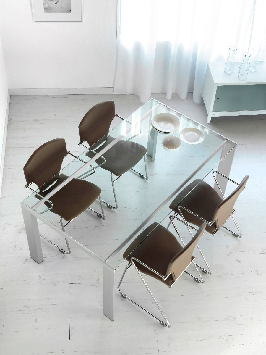 STUA Egoa Chair with a glass dining table