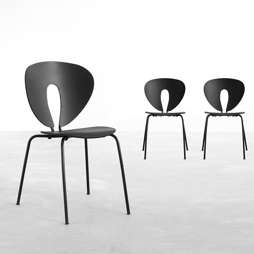 STUA Globus Polypropylene Chair black seat black base