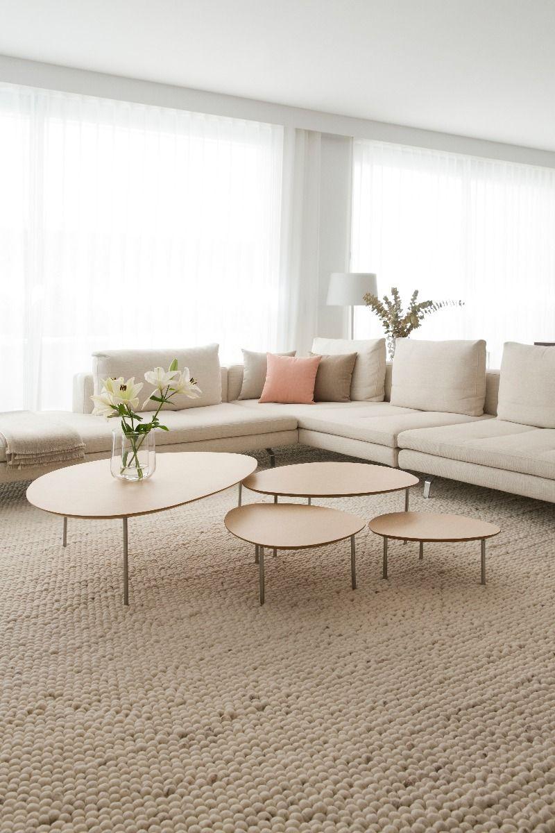 STUA Eclipse Coffee tables in oak in living room