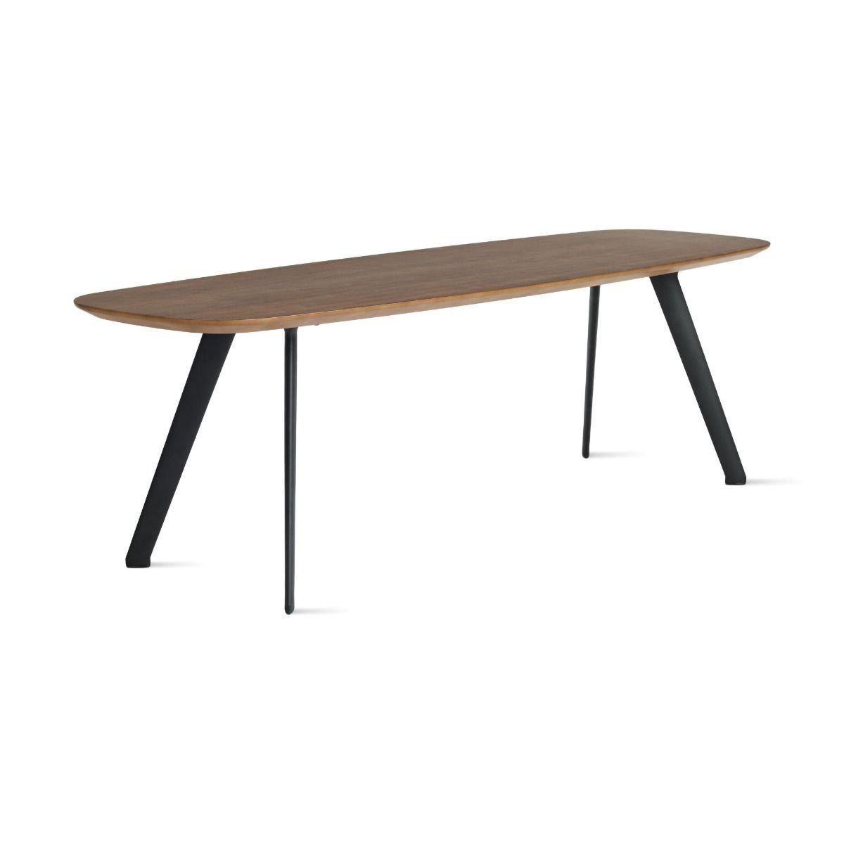 Stua Solapa coffee table walnut 40cm x 120cm