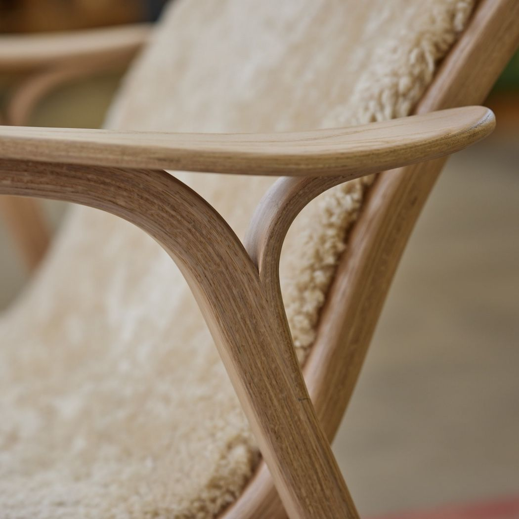 Swedese Lamino Easy Chair - Anniversary Edition detail of arm