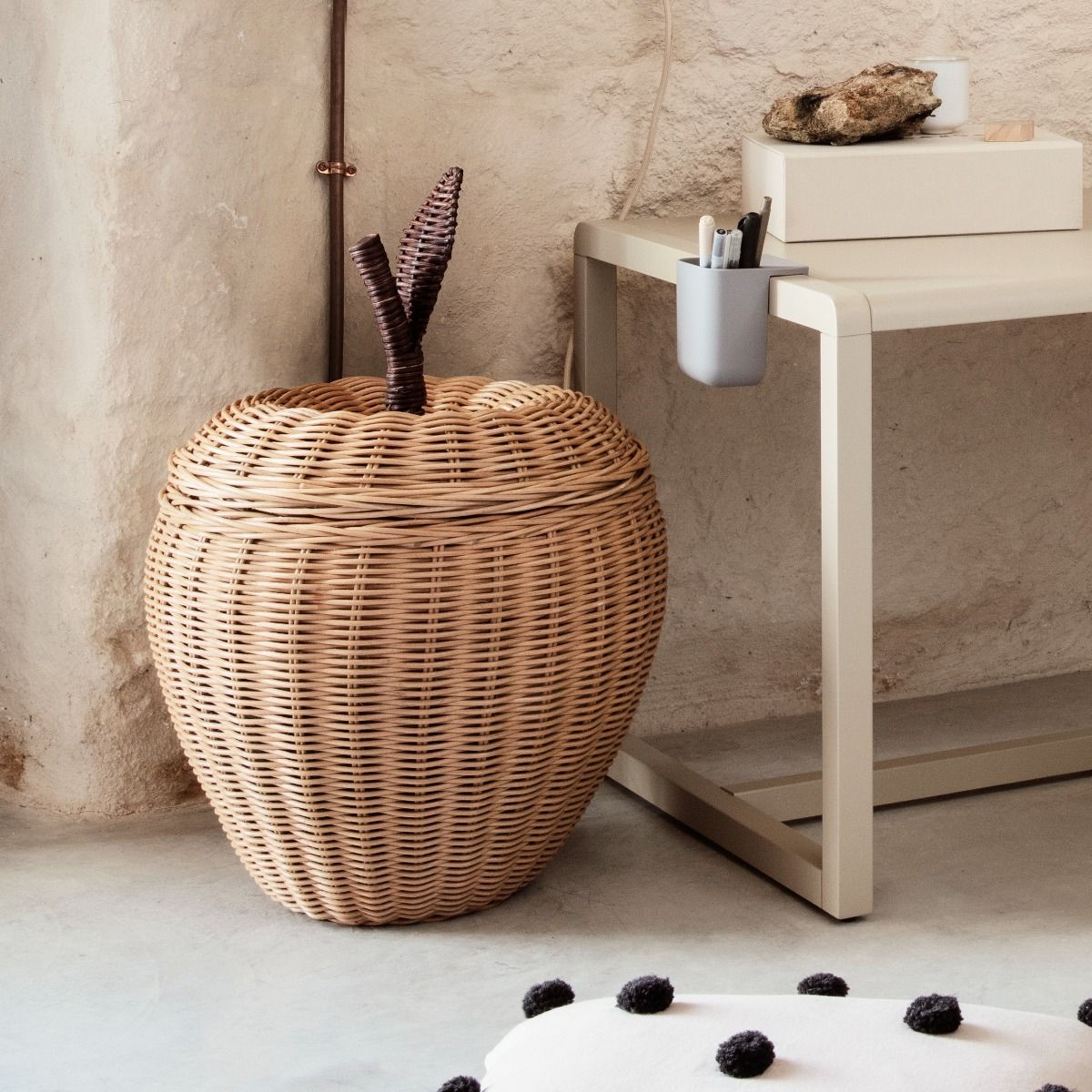 Ferm living Apple storage basket in kids room