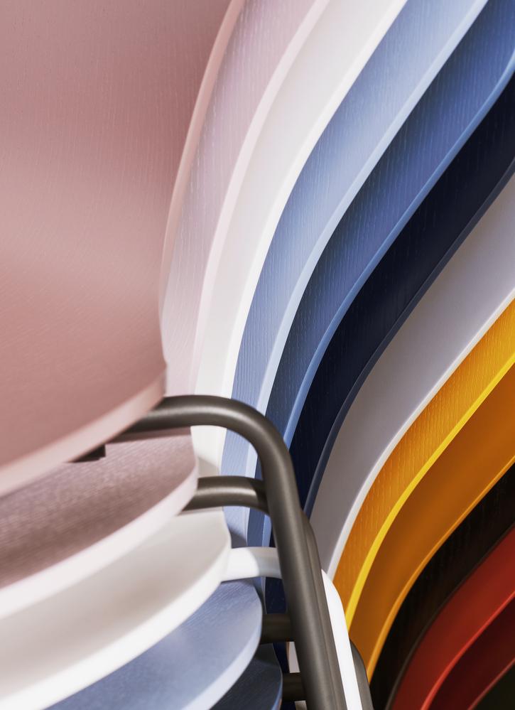 Detail photo of the new Fritz Hansen series seven colours