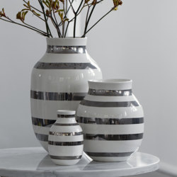 Kahler omaggio vase - silver
