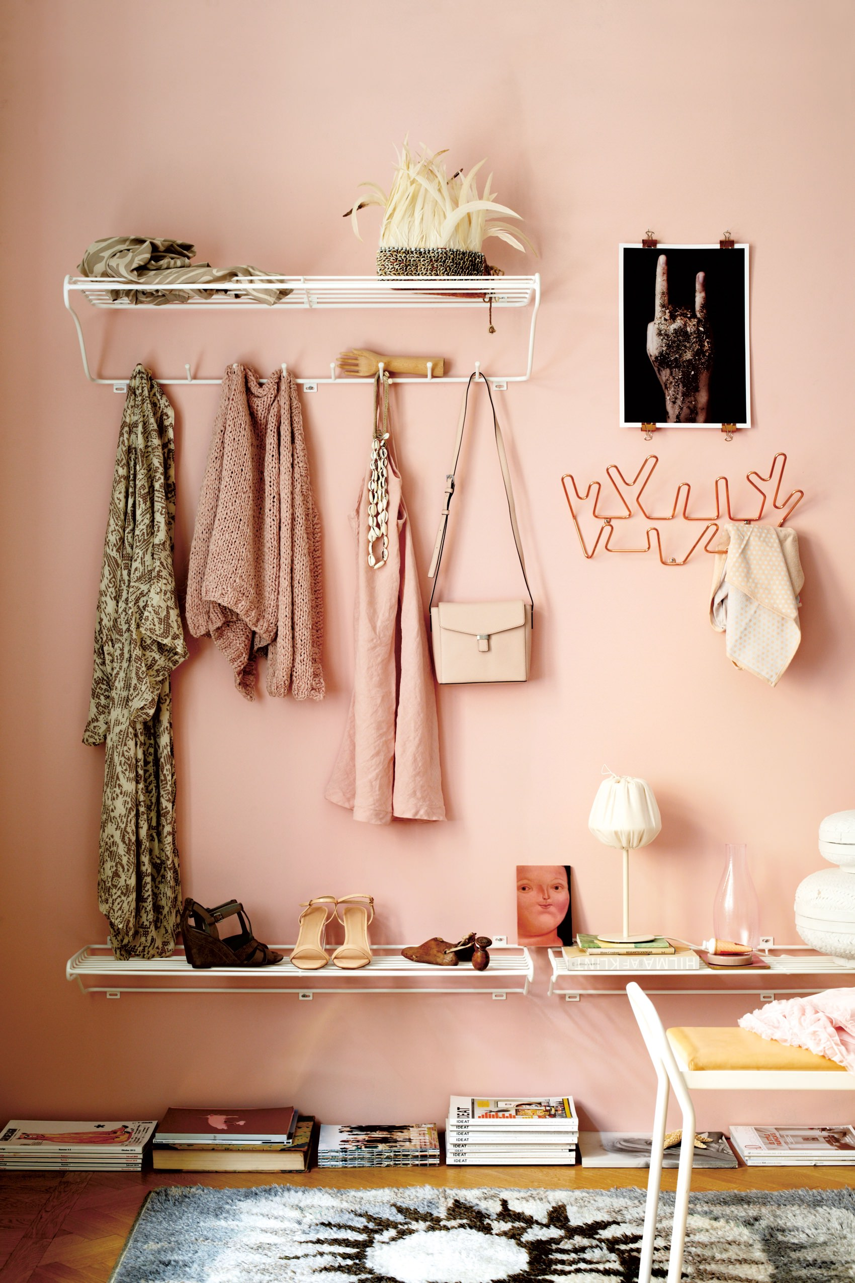 Maze hat rack and shoe shelf