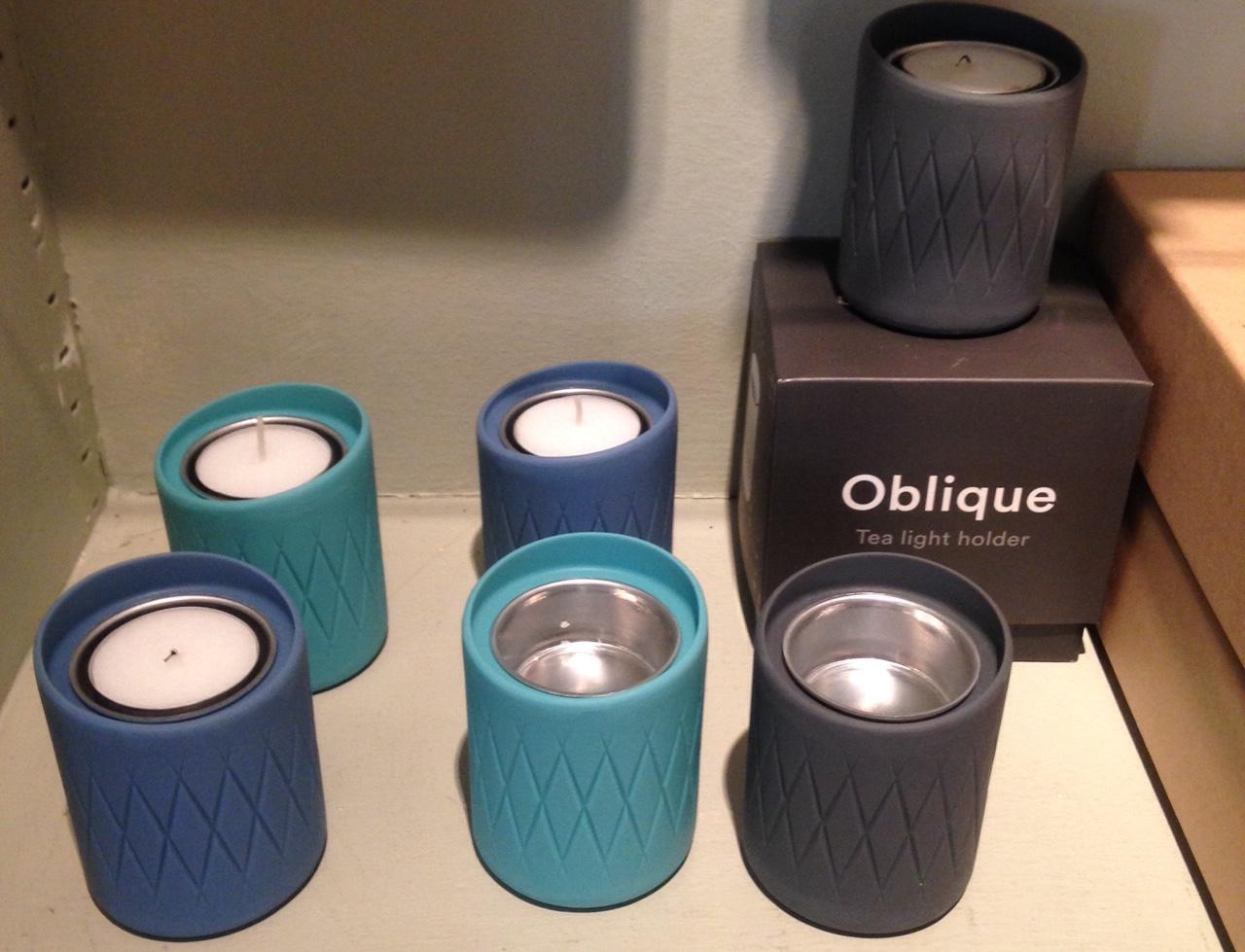 Oblique Candle Holder - design Junction