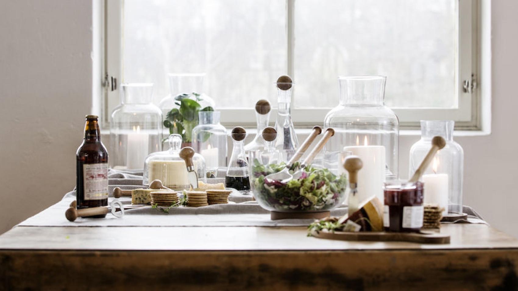 Sagaform Oval Oak Glassware