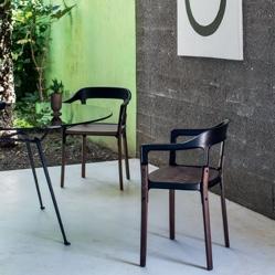 Magis steelwood chair walnut