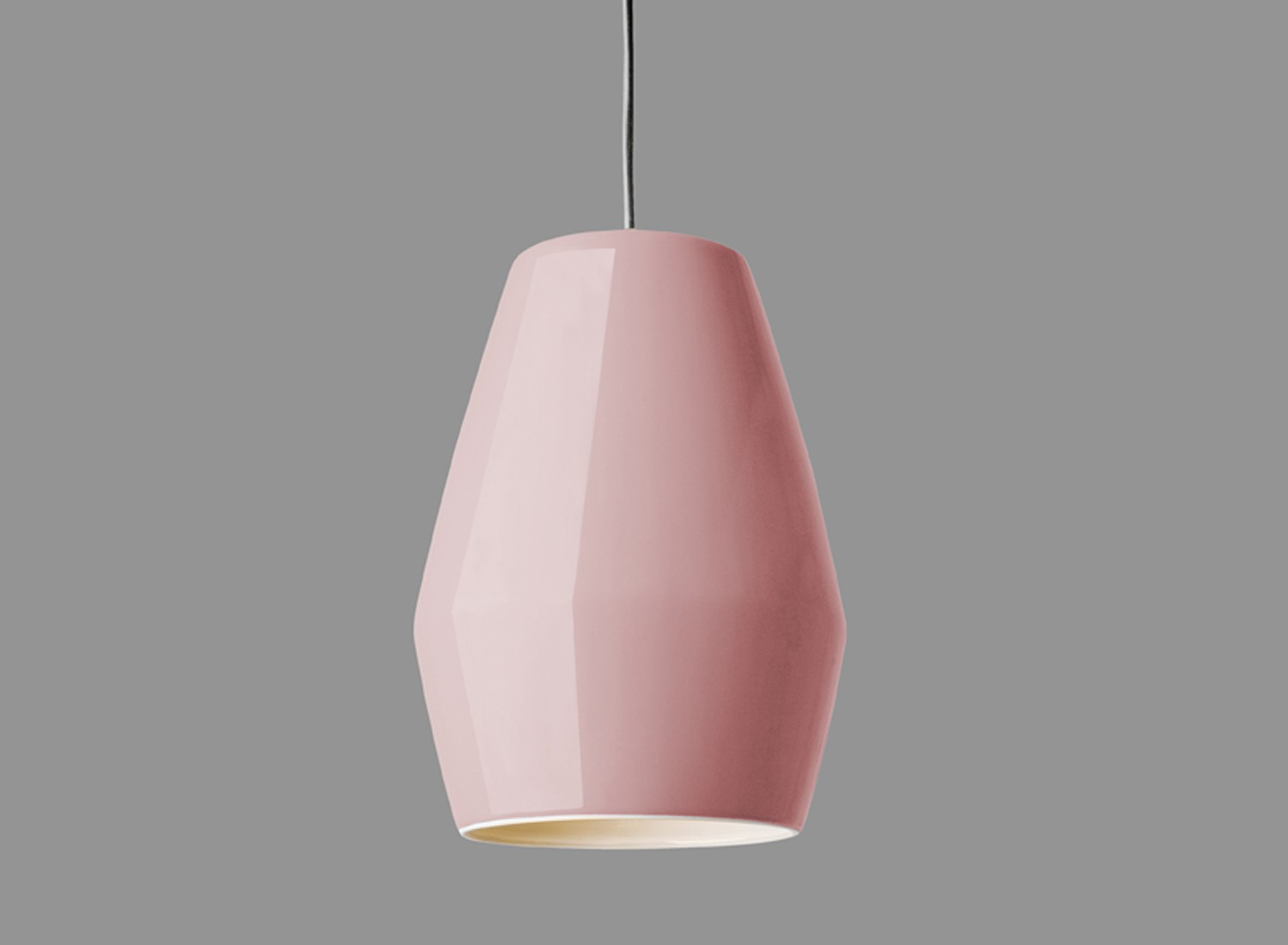 Northern Lighting Bell Pendant Light Pink