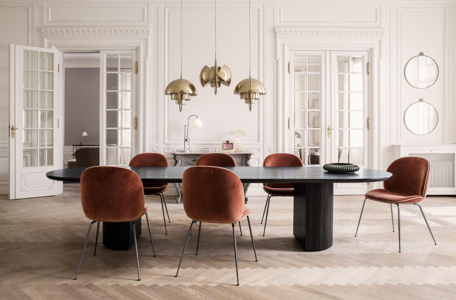 Gubi Beetle chair velvet