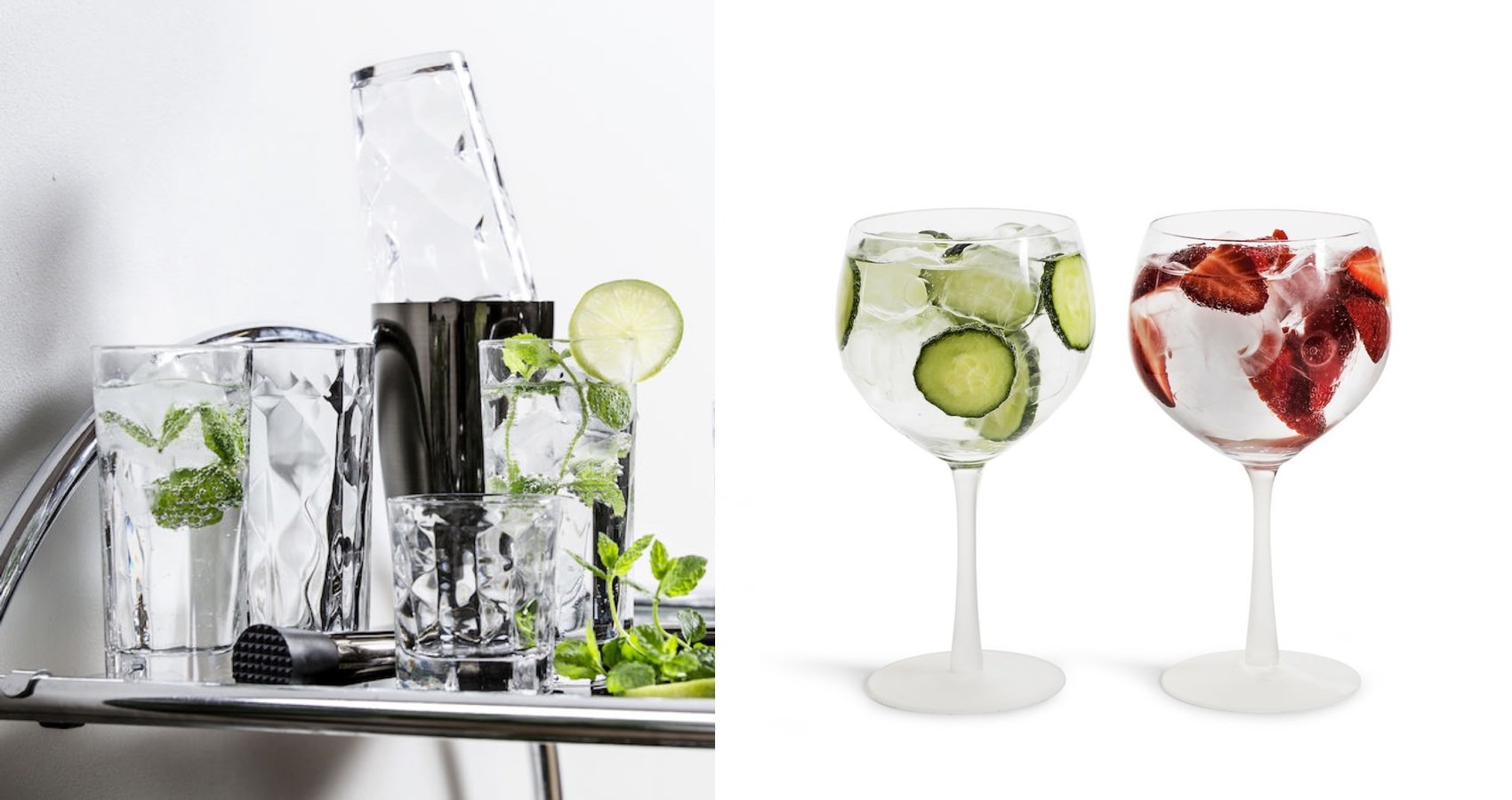 Sagaform Gin and High ball glasses