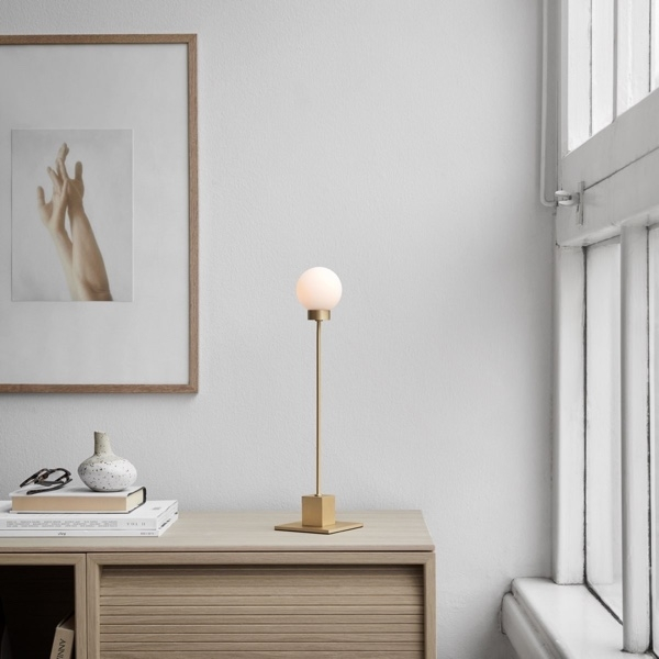 Northern Snowball Table Lamp - Brass