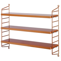 String pocket shelf copper