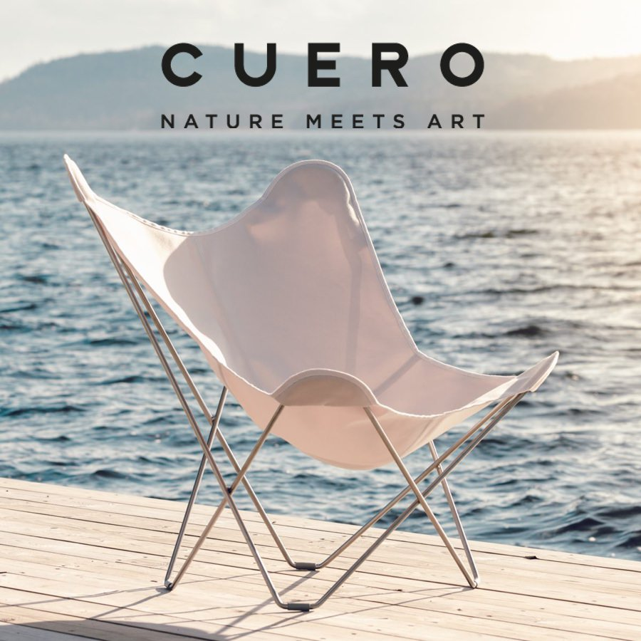 Cuero Design Butterfly Chair Free Lambskin