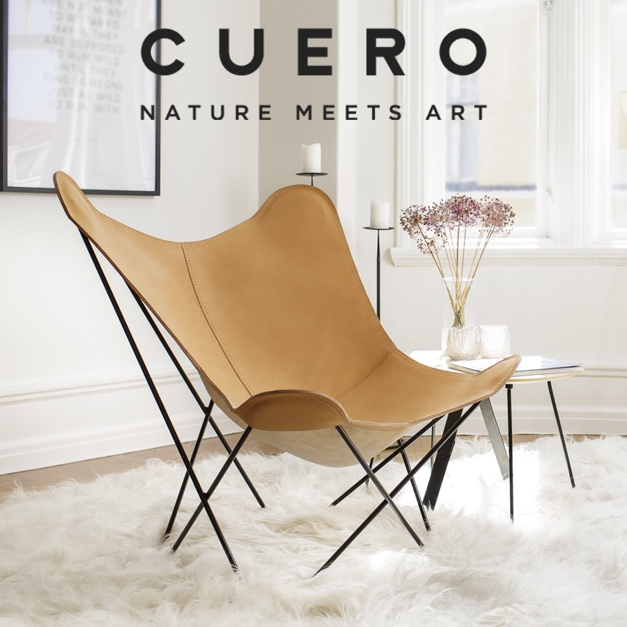 Cuero Design Butterfly Chair