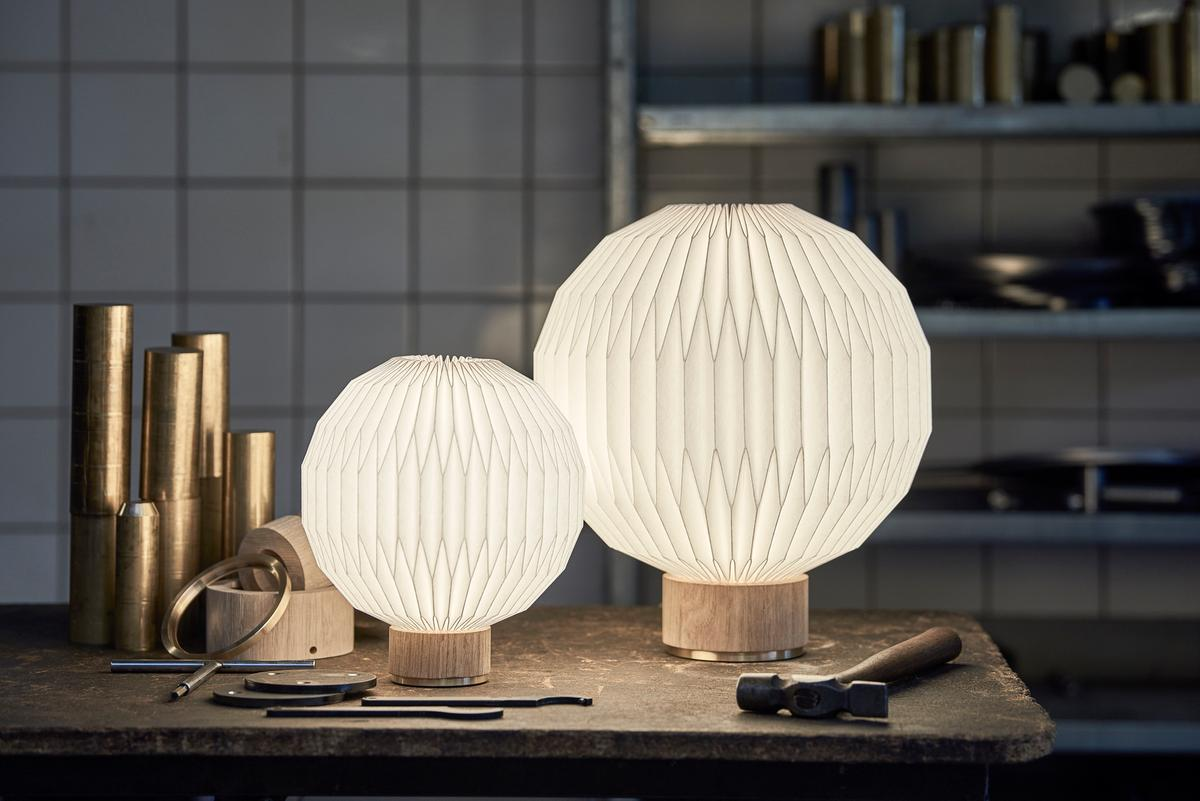 Le Klint 375 Table Lamp on work bench