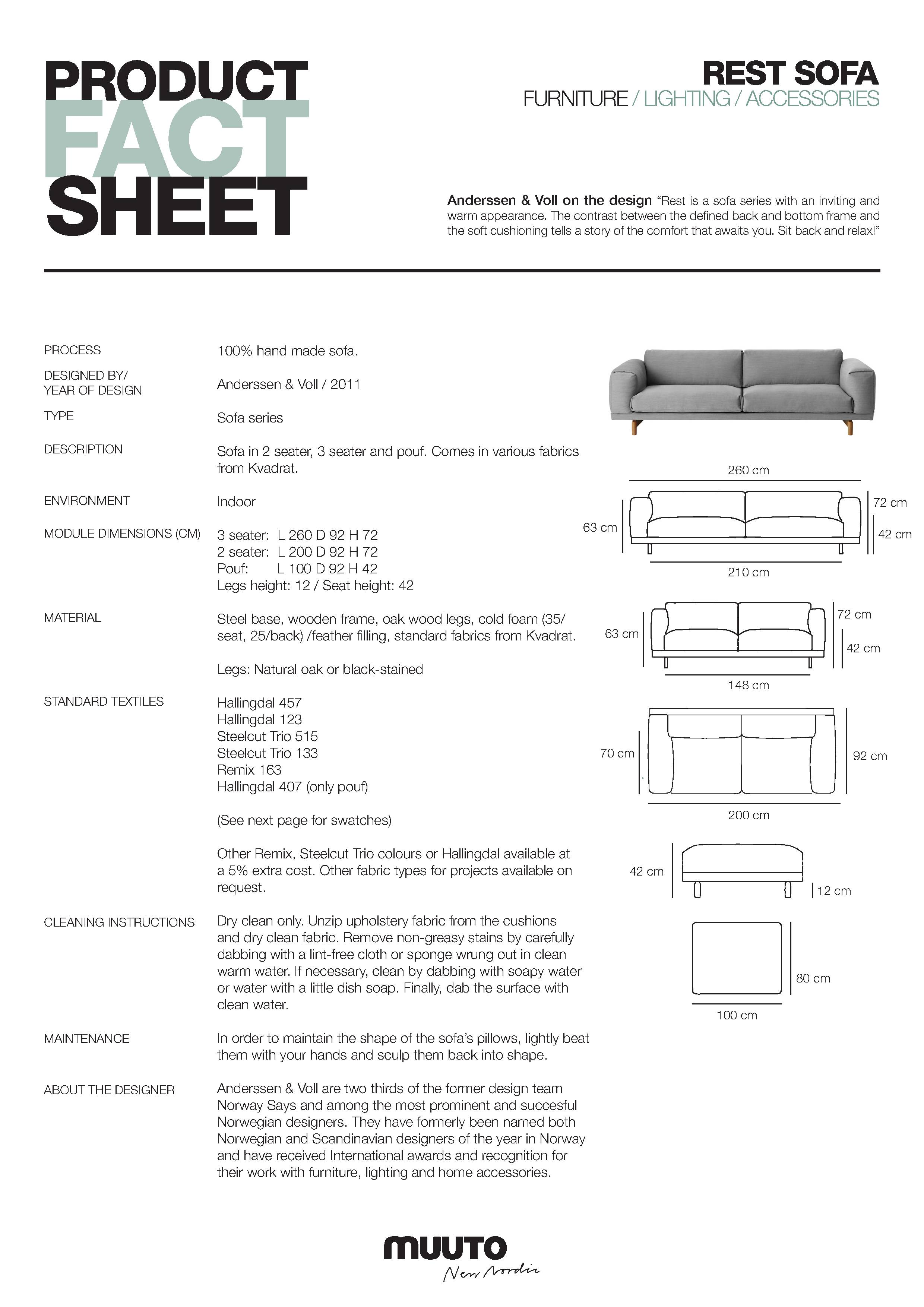 Muuto Rest 3 Seater Sofa Funktion Alley