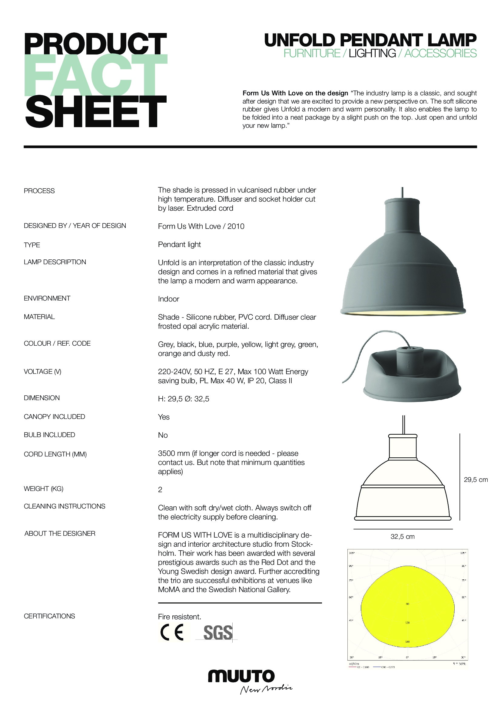 Click here to open fact sheet  sc 1 st  Funktionalley & Muuto Unfold Pendant Light | Funktion Alley azcodes.com